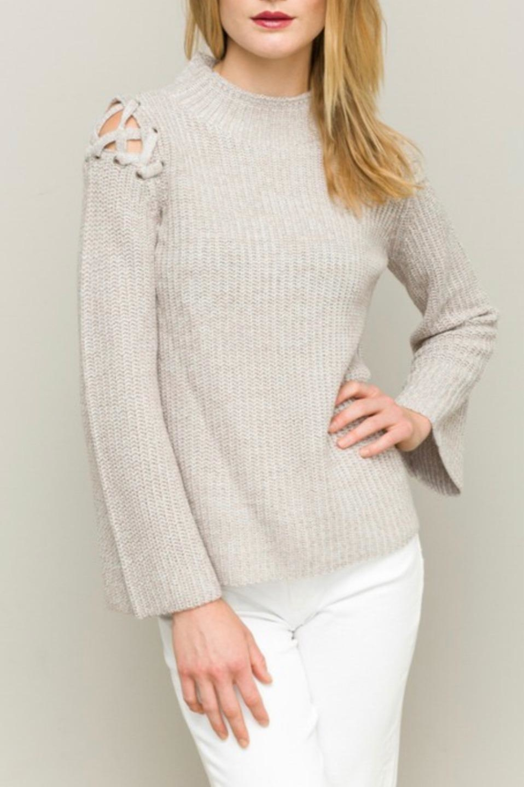 Hem & Thread Funnel Neck Sweater - Front Cropped Image
