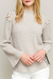 Hem & Thread Funnel Neck Sweater - Front full body