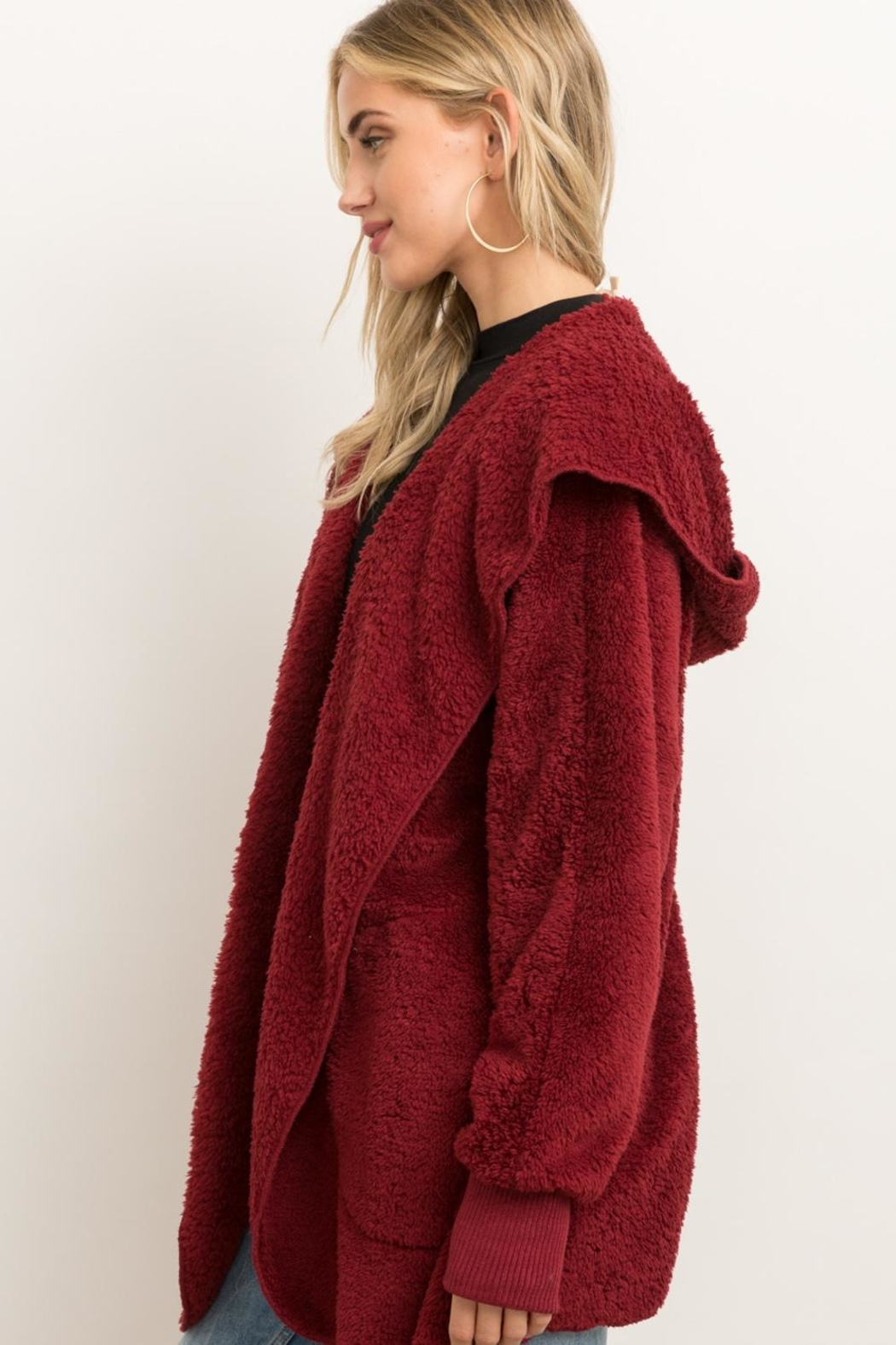 Hem & Thread Fur Open Cardigan - Back Cropped Image
