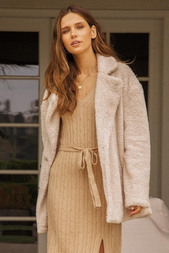 Hem & Thread Furry Button-Up Coat - Alternate List Image
