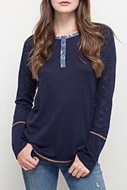 Hem & Thread Henley Top - Front cropped