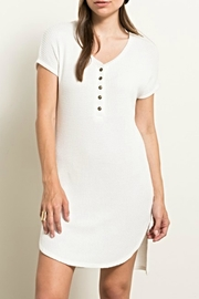 Hem & Thread Henley Waffleknit Tunic/dress - Product Mini Image