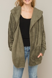 Hem & Thread Hooded Open Cardigan - Product Mini Image