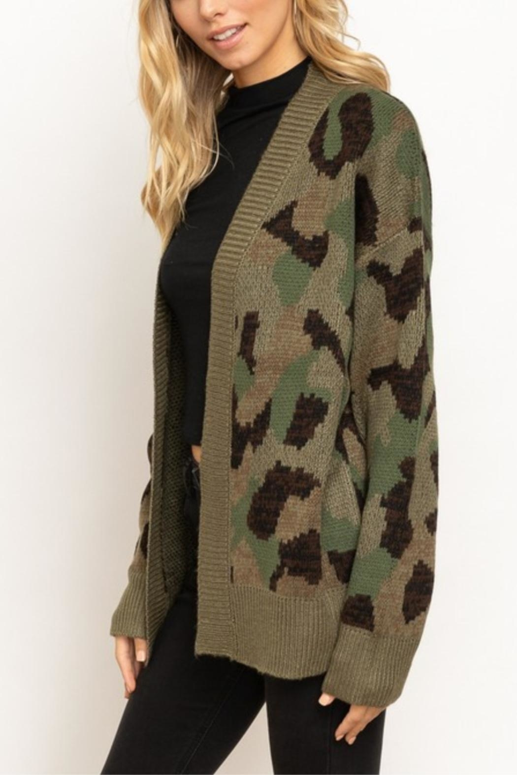 Hem & Thread In The Trenches Cardigan - Side Cropped Image