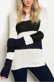 Hem & Thread Ivory Striped Sweater - Product Mini Image