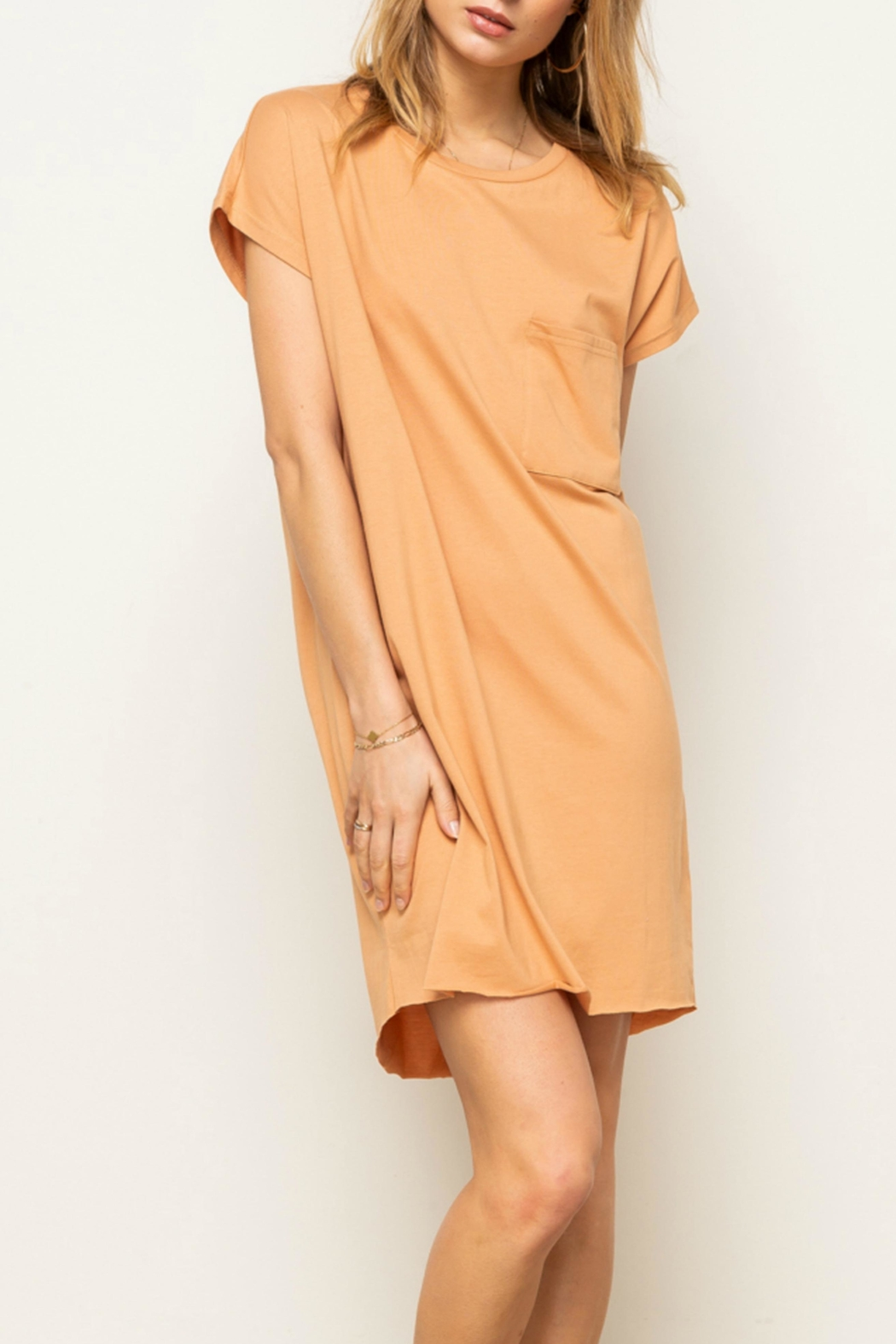 Hem & Thread Jersey t-Shirt Dress - Front Cropped Image