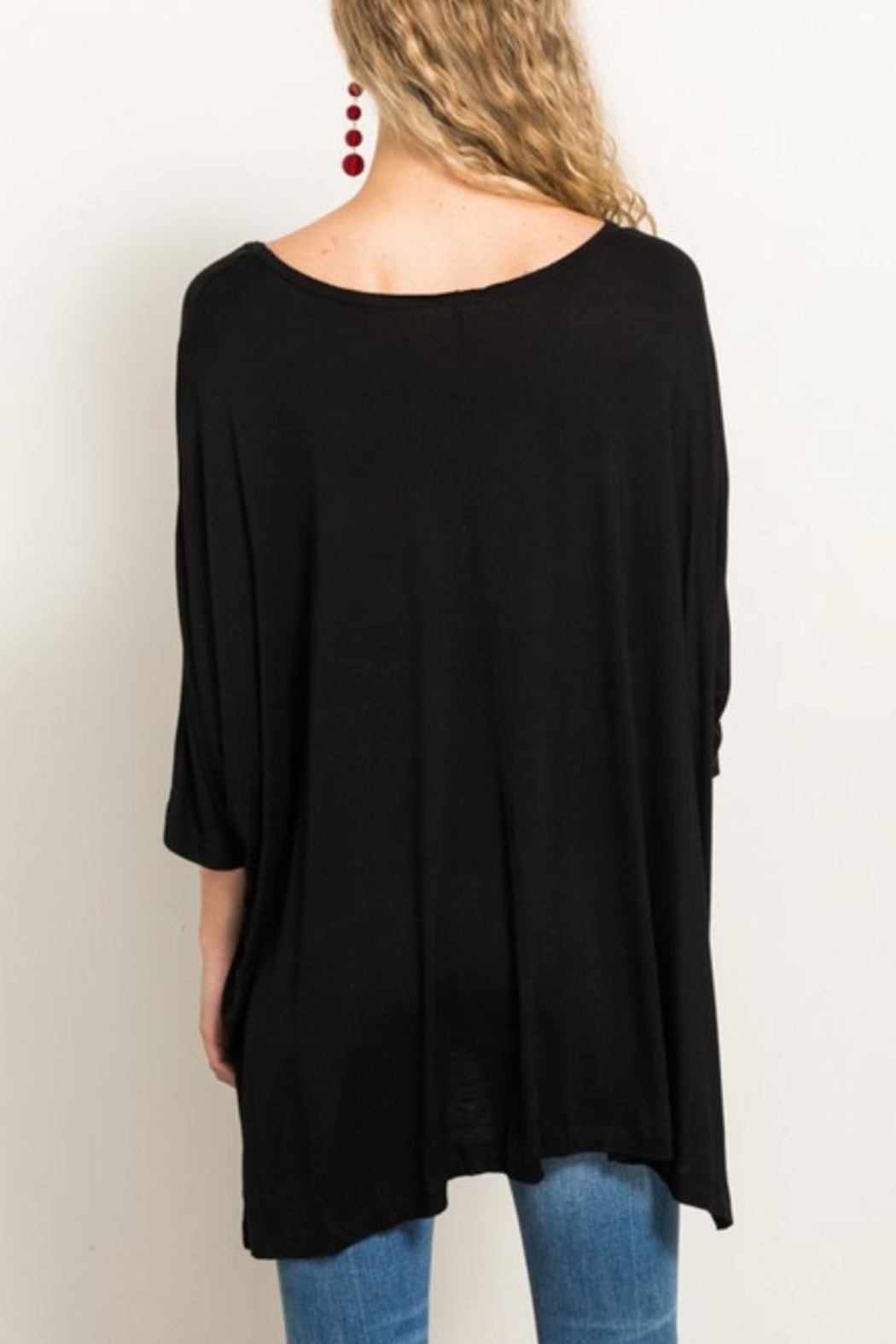 Hem & Thread Jersey Tunic Top - Side Cropped Image