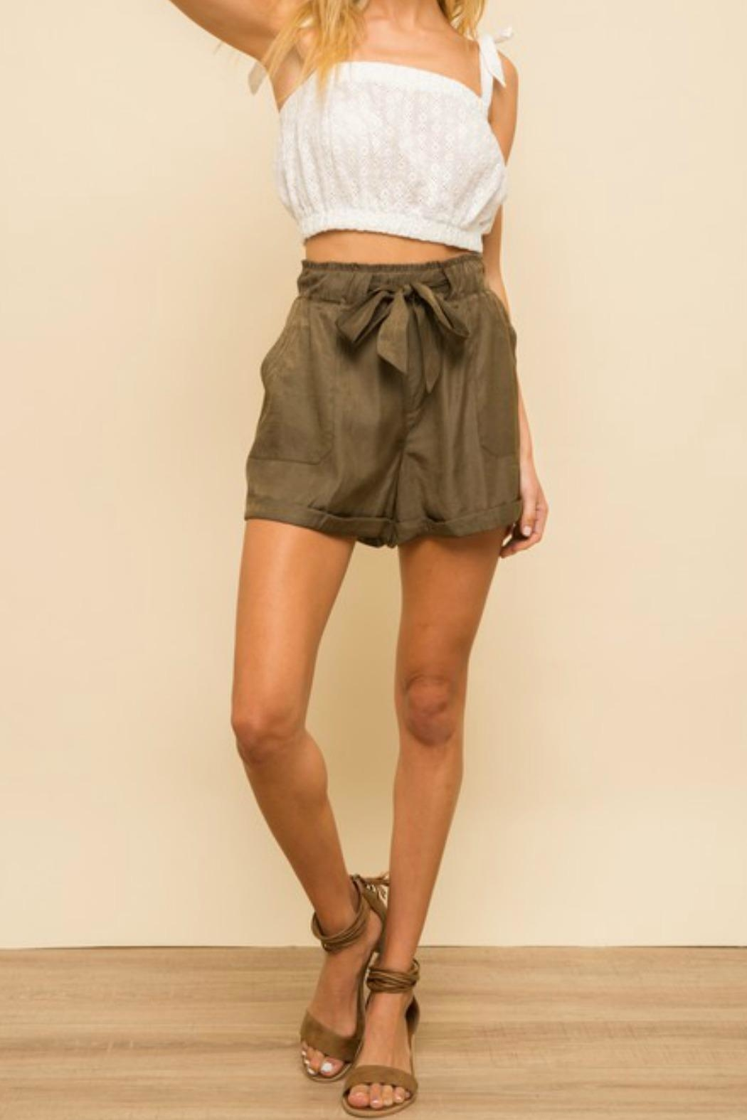 Hem & Thread Jonelle Soft-Satin Shorts - Front Cropped Image