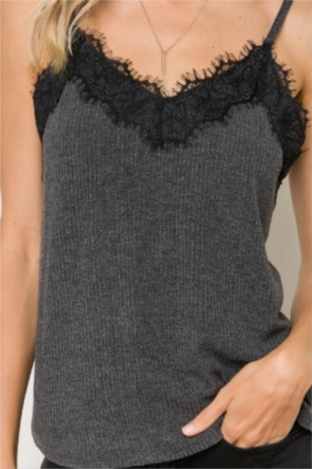 Hem & Thread Knit Camisole - Main Image