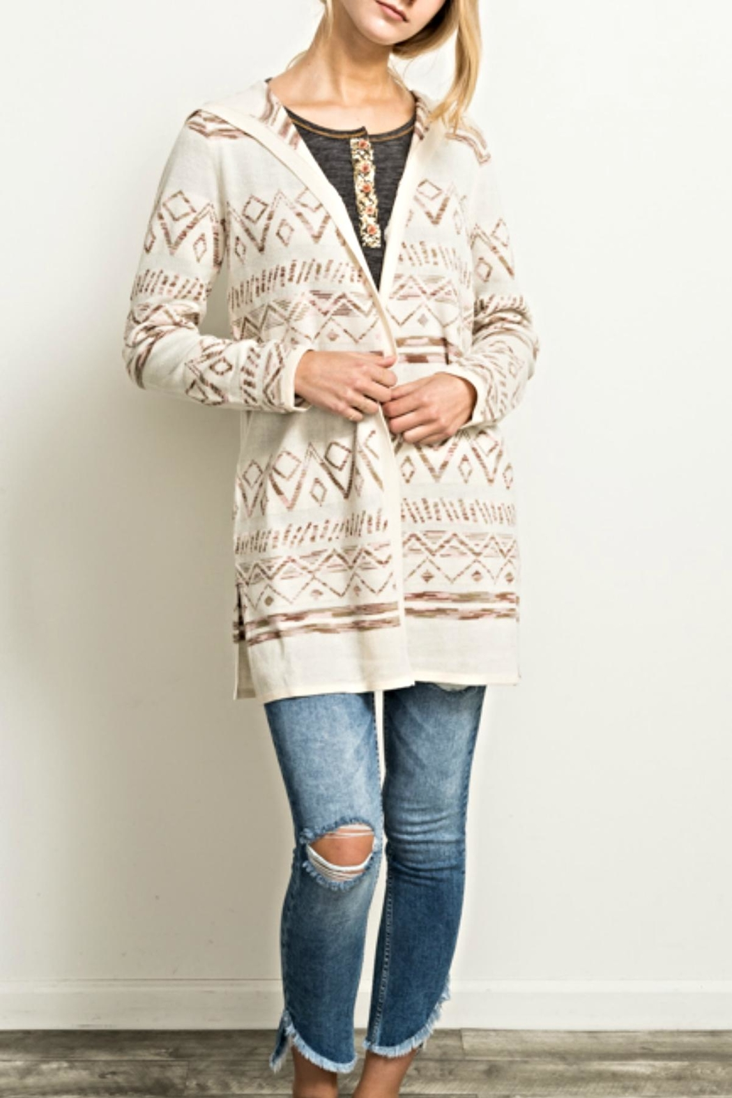Hem & Thread Knit Pattern Cardigan from Chicago by What She Wants ...