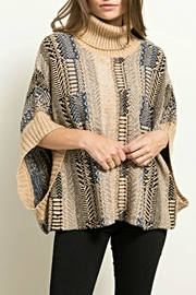 Hem & Thread Knit Sweater Poncho - Front cropped