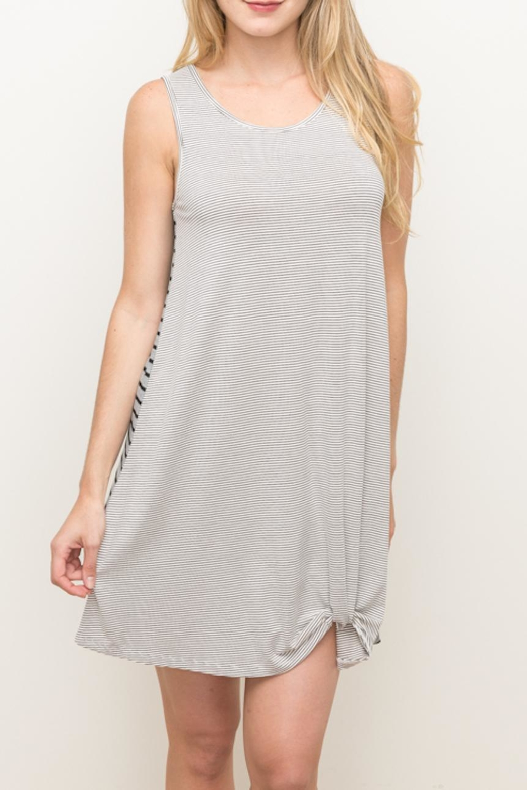 Hem & Thread Knotted Tank Dress - Side Cropped Image