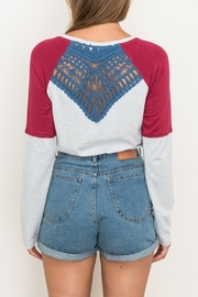 Hem & Thread Lace-Back Raglan Top - Side cropped