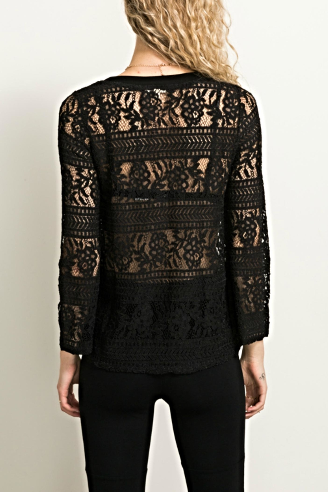 Hem & Thread Lace Bell Top - Front Full Image