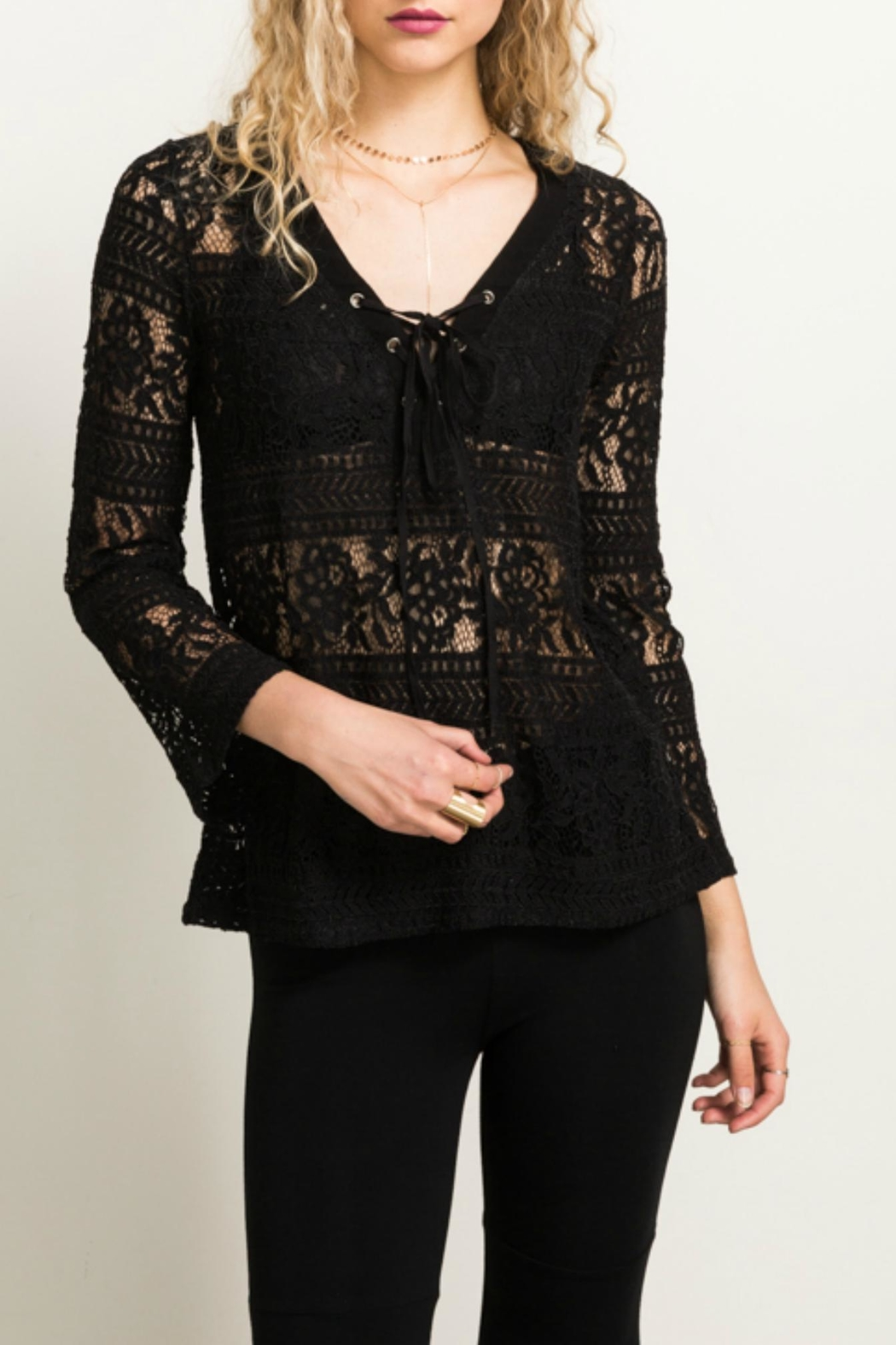 Hem & Thread Lace Bell Top - Main Image