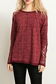 Hem & Thread Lace Inlay Top - Product Mini Image