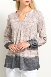 Hem & Thread Lace Inset Top - Front cropped