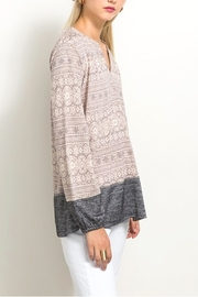 Hem & Thread Lace Inset Top - Side cropped