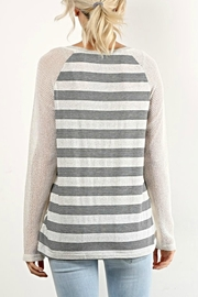 Hem & Thread Lacey Striped Top - Side cropped