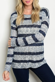 Hem & Thread Lena Striped Sweater - Product Mini Image
