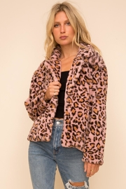 Hem & Thread Leopard Fur Jacket - Front cropped