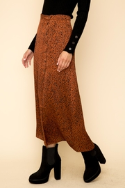 Hem & Thread Leopard Maxi Skirt - Side cropped