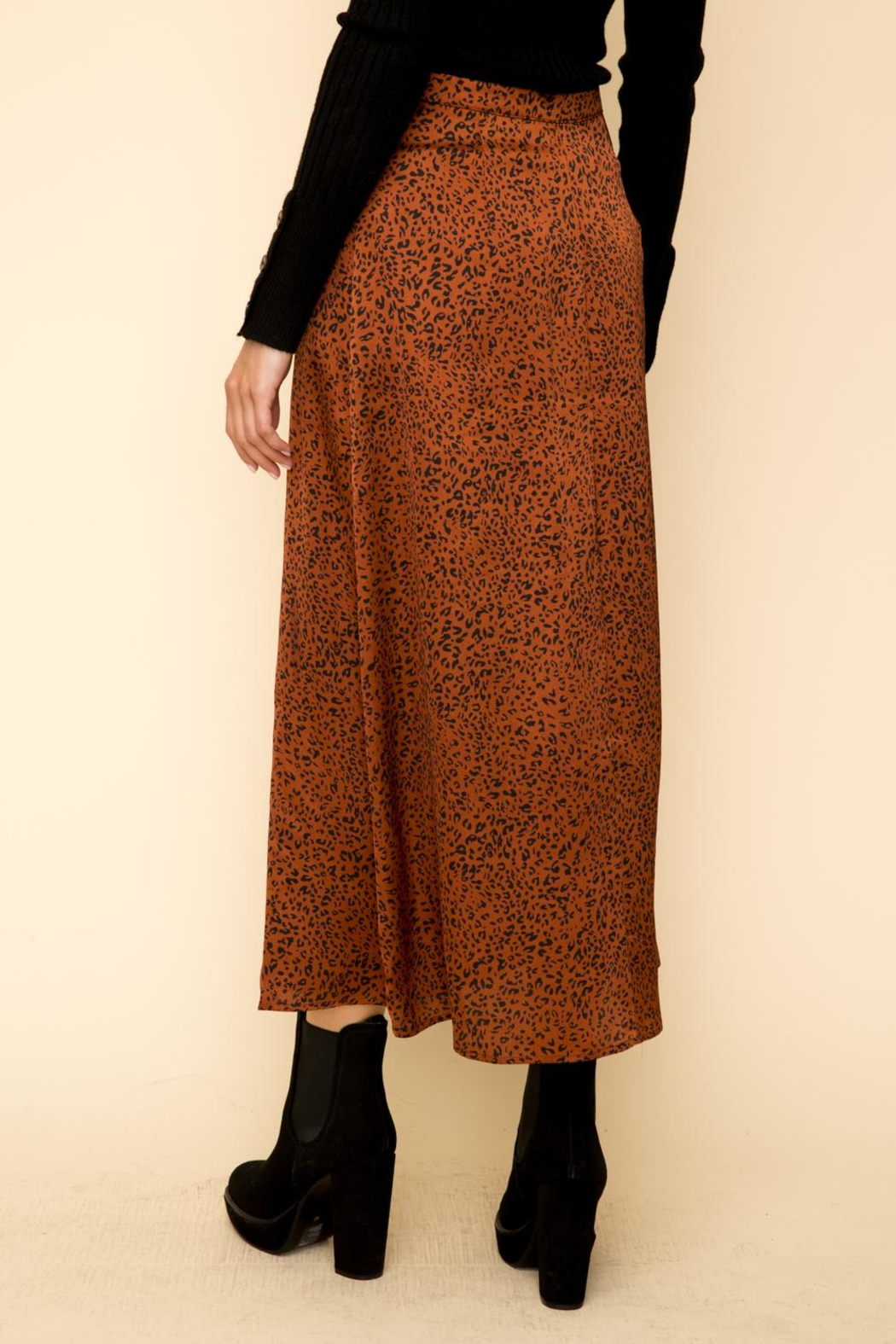 Hem & Thread Leopard Maxi Skirt - Back Cropped Image
