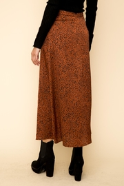 Hem & Thread Leopard Maxi Skirt - Back cropped