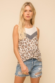 Hem & Thread Leopard Twisted Top - Front cropped