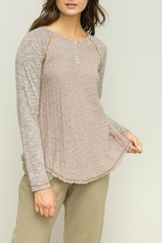 Hem & Thread Lined Henley Top - Front cropped
