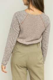 Hem & Thread Lined Henley Top - Side cropped