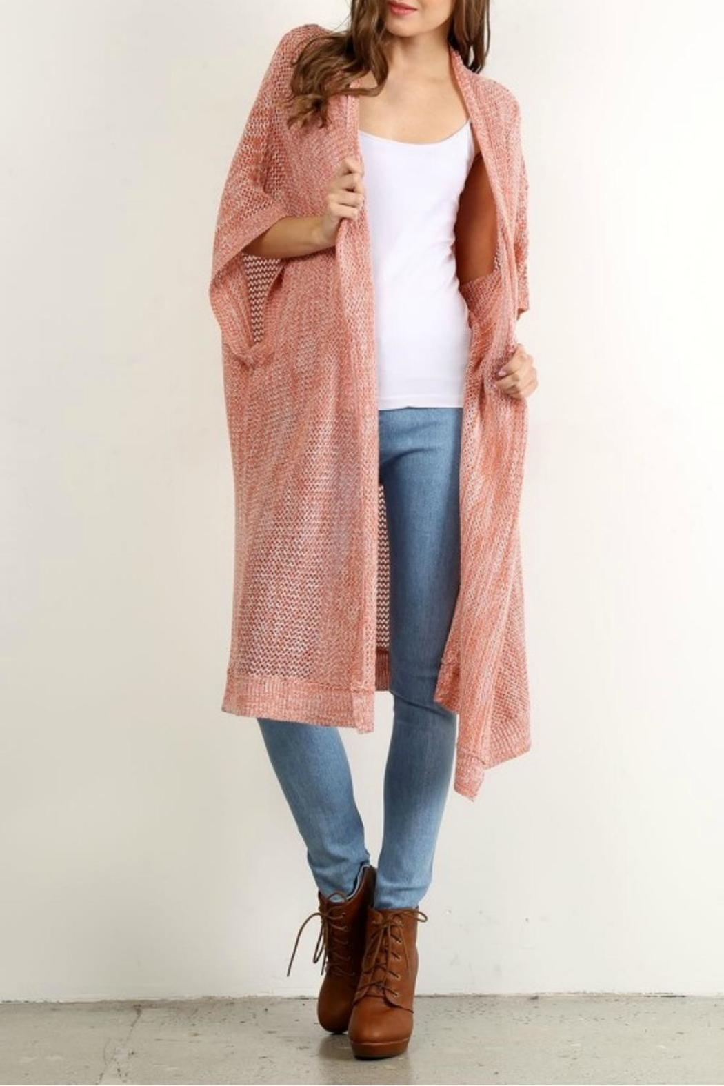 Hem Amp Thread Long Blush Cardigan From St George By The