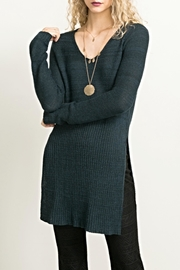 Hem & Thread Long Sideslit Sweater - Product Mini Image