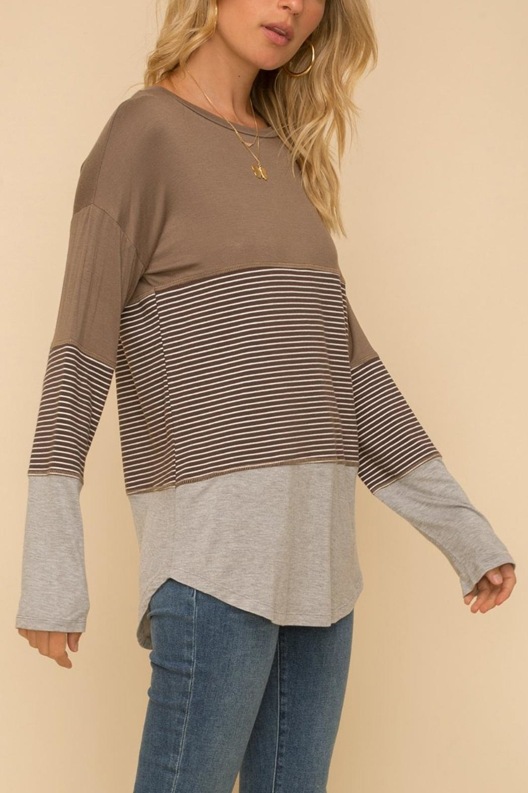 Hem & Thread Long-Sleeve Knit Top - Side Cropped Image