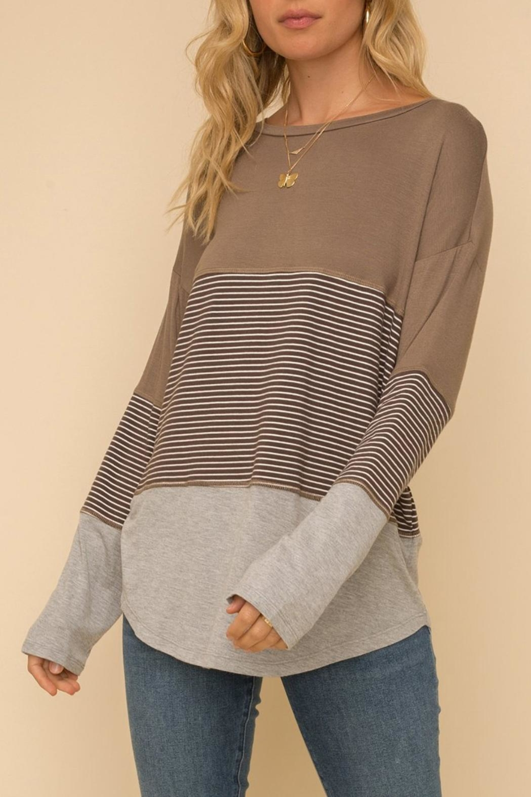 Hem & Thread Long-Sleeve Knit Top - Front Cropped Image