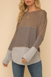 Hem & Thread Long-Sleeve Knit Top - Front cropped