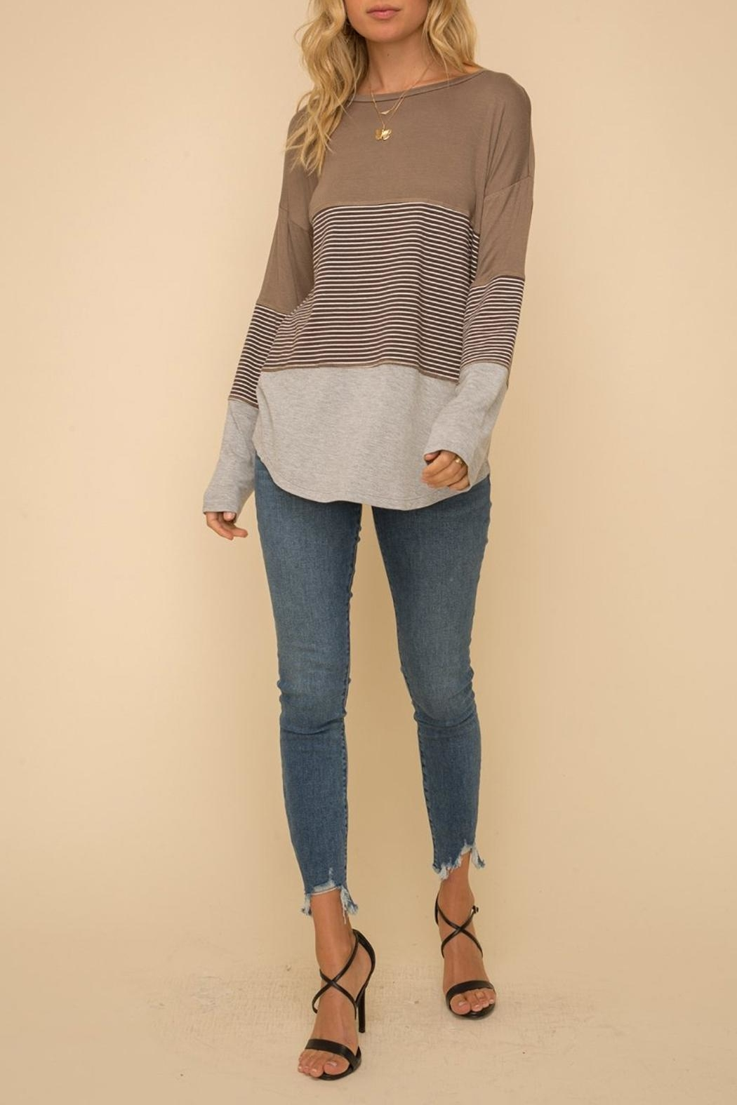 Hem & Thread Long-Sleeve Knit Top - Front Full Image