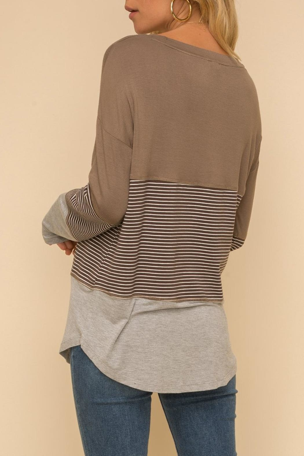 Hem & Thread Long-Sleeve Knit Top - Back Cropped Image