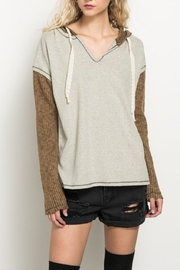 Hem & Thread Loose Fit Pullover - Product Mini Image