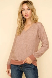 Hem & Thread Mauve Hacci Top - Front cropped