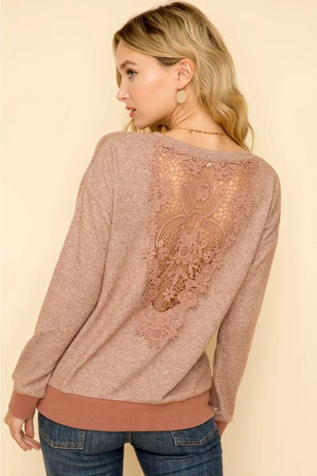 Hem & Thread Mauve Hacci Top - Front Full Image