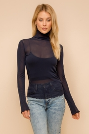 Hem & Thread Mesh Knit Top - Front cropped