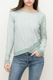 Hem & Thread Mint Distressed Top - Product Mini Image