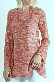 Hem & Thread Coral Crochet Sweater - Product Mini Image