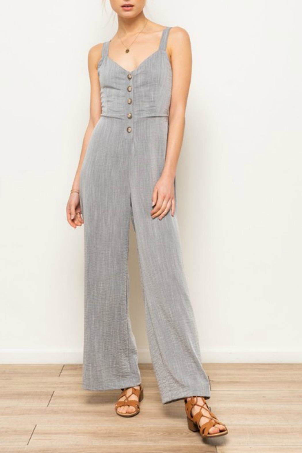 Hem & Thread Montauk Nights Jumpsuit - Front Cropped Image
