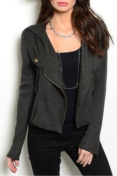 Shoptiques Product: Moto Charcoal Jacket
