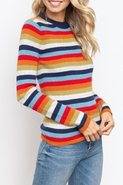 Hem & Thread Multi Stripe Top - Front full body
