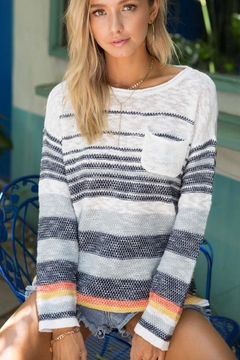 Shoptiques Product: Multi-Striped Pullover Sweater