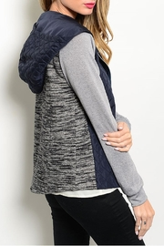 Hem & Thread Navy Gray Jacket - Front full body