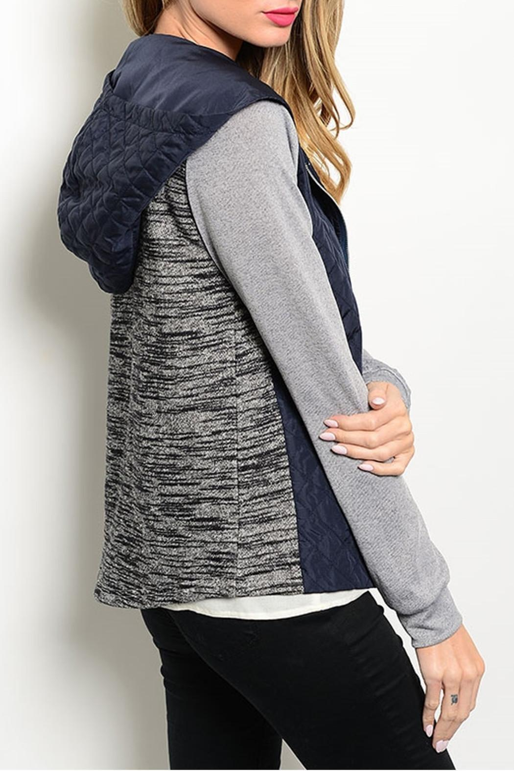 Hem & Thread Navy Gray Jacket - Front Full Image